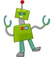 fantasy robot cartoon character vector image vector image
