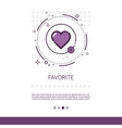 favorite love plus symbol web banner with copy vector image vector image