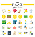 finance flat icon set business symbols collection vector image vector image