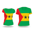 Flag shirt design of Sao Tome and Principe vector image vector image