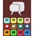 Flat icon of a communication - dialogue vector image vector image
