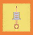 flat shading style icon kids syringe vector image vector image