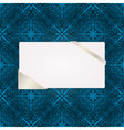 greeting card on seamless pattern vector image vector image