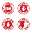 grunge rubber stop violence against children sign vector image