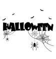 halloween spider and a web background image vector image