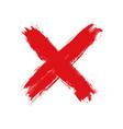 hand drawn cross grunge cross vector image