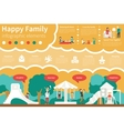 Happy Family infographic flat vector image