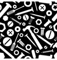 hardware screws and nails with tools black vector image