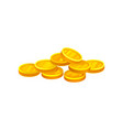 heap of shiny golden coins investment and economy vector image vector image