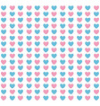 hearts blue and pink pattern background vector image