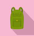 hiking backpack icon flat style vector image vector image