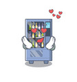 in love wine vending machine isolated with vector image vector image