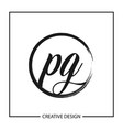 initial letter pg logo template design vector image