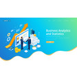 isometric successful business collaboration vector image vector image