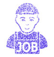 jobless icon grunge watermark vector image vector image