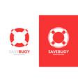 lifebuoy logo combination unique life belt vector image