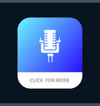 microphone multimedia record song mobile app icon vector image vector image