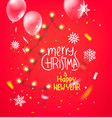 mmerry christmas and happy new year wishes card vector image vector image