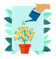 money plant metaphor vector image vector image