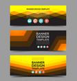 multipurpose layout banner design 3 vector image vector image