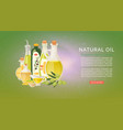 natural organic oils with extra virgin olive oil vector image
