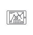 online statistics line icon concept online vector image vector image