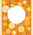 pancakes rectangle frame vector image vector image