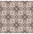 Pattern with decorative shapes in organic brown vector image vector image