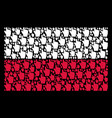 polish flag pattern of index finger icons vector image