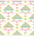 pretty geometric lacy triangle pattern seamless vector image vector image
