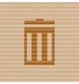Recycle bin icon symbol Flat modern web design vector image vector image