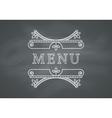 Restaurant Menu Headline with Chalkboard vector image vector image