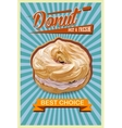 Retro Donut Poster Promotional sign vector image vector image