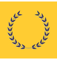 Round laurel foliate Award concept Flat design sty vector image