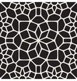 seamless black and white round star lace vector image