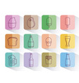 set of fast food isolated icon vector image vector image