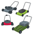 set of mower vector image