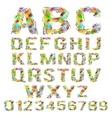 set of multicolored geometric polygonal broken vector image