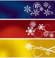 set of three winter banners vector image vector image