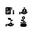 silhouette invest and income icons design vector image vector image