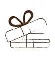 sketch draw gift box wrap ribbon vector image vector image