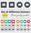 smiling girl icon sign Big set of colorful diverse vector image vector image