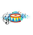 snare drum percussion instrument with melody vector image