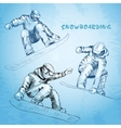 Snowboarding Hand drawn vector image