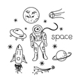 Space objects vector image vector image