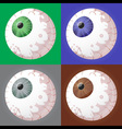 spooky eyeballs vector image vector image