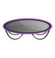 trampoline icon cartoon style vector image