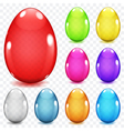 Transparent glass Easter eggs vector image vector image