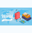 travel equipment in isometric style travel and vector image vector image
