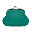 Turquoise Female Wallet Realistic vector image vector image